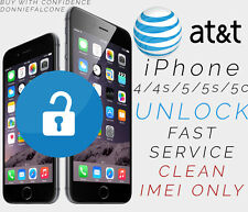 PREMIUM FACTORY UNLOCK SERVICE CODE FOR AT&T ATT IPHONE 4 4s 5 5s 6 6+ 6s 7 PLUS