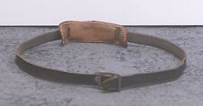Vintage Gray Leather Camera Strap w/Shoulder Bolster  Lt14A
