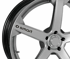 4 x Stickers for Wheels fits Smart ForTwo ForFour Roadster Brabus Emblem Logo B