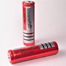3x 6800mAh Akku UNARMFIRE  Li-ion Accu 3,7 V Batterie 18650 / 65x18 mm SWAT PCB