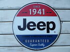 JEEP Since 1941 RED WHITE & BLUE Willys Wrangler Wagoneer Cherokee METAL SIGN