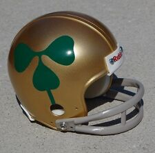 "NOTRE DAME FIGHTING IRISH 1959 ""PROPELLER""  MINI FOOTBALL HELMET w/ 2 BAR MASK"