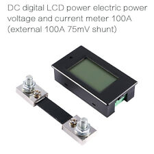 DC 100A Digital LCD Voltage Current KWh Watt Power Energy Monitor Combo Meter