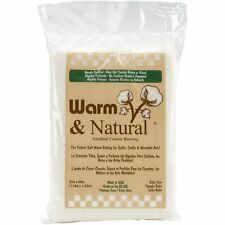 """Warm and Natural Cotton Batting-Crib Size 45""""X60"""" , New, Free Shipping"""