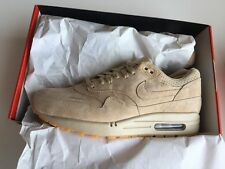 Nike Air Max 1 Pinnacle 8 Mens 9.5 Wmn Linen Gum Sole Atmos OG Red Milano Suede