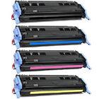 4 Pack Toner Cartridge Set for HP LaserJet 1600 2600 2600n 2600DN 2605dtn 124A