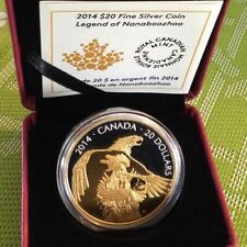 2014 Canada $20 1oz Fine Silver Coin - Legend of Nanaboozhoo with Gold Glided