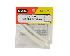 "DU-BRO 3x 3/16"" Diameter x 76mm Heat Shrink Tubing - CatNo438"