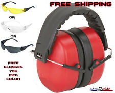 Ear Muffs Glasses Combo Hearing Protection Shoot Hunting Gun Sport Tactical NRR