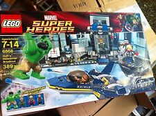 LEGO 6868 MARVEL SUPER HEROES HULKS HELICARRIER BREAKOUT, USED, 100%, WITH BOX