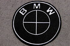BMW Blackout Style Emblem Embroidered Patch 5 inch NEW