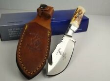 Bone Collector Knife BC-804 Blade Hunting Skinning Knife w/Leather Sheath BC804