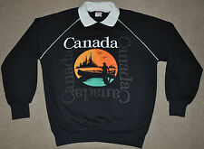 VTG 80s 90s CANADA Quebec Toronto Montreal Vancouver black sweater Small S