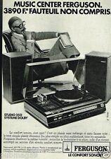 Publicité advertising 1977 Platine Music Center Ferguson Studio 25 D