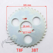 T8F 38 Tooth Rear Chain Sprocket 29mm For 43 49cc Mini Goped Scooter Pocket Bike