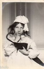 BJ335 Carte Photo vintage card RPPC Enfant mode fashion funny parapluie