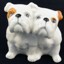 """Bull Dogs PAIR NEW IN BOX figurine 2"""" TALL porcelain Made in England BESWICK"""