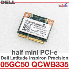 Wi-Fi WLAN WIRELESS CARD NETZWERKKARTE DELL MINI PCI-E 05GC50 QCWB335 NEW D36