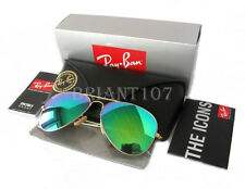 Unisex Sunglasses Ray-Ban RB3026 Aviator Gold/Green Mirror 112/19  62mm+Gift bag