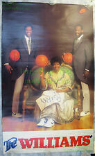Vintage Original NIKE Poster The Williams Gus Ray & Mom Needlepoint Supersonics