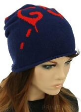 NEW GUCCI GHOST GG LOGO BLUE WOOL LUXURY BEANIE HAT 56/S/SMALL