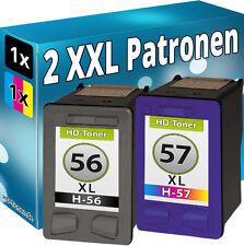 TINTENPATRONEN für HP 56 + 57 XL DRUCKERPATRONEN PATRONEN