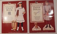 American Girl Pastimes Samantha's Craft Book and Paperdolls 1994