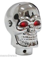 Pommeau de levier de vitesse tête de mort LED rouge lumineux