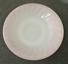 Fire King Anchor Hocking Oven Ware Pink Swirl Saucer EUC