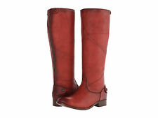 New in Box Womens FRYE Melissa Button Back-Zip Boot Burnt Red Dakota Boot Sz 6 M