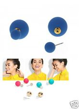 *BAUBLEBAR* Double Sided Sapphire Blue Bubblegum Ball Peekaboo 360 Stud Earrings