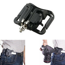 NEW Quick Holster Hanger Waist Belt Buckle Button Mount Clip for All DSLR C