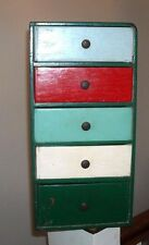 SMALL VINTAGE SOLID WOOD CHEST OF DRAWERS STORAGE ORGANIZATION JEWELRY