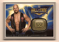 STEVE AUSTIN 2016 TOPPS WWE ROAD TO WRESTLEMANIA HALL OF FAME RING SILVER /25