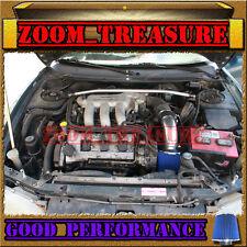 BLACK BLUE 1993-1997 FORD PROBE GT/MAZDA MX6 MX-6/626 2.5L V6 AIR INTAKE KIT