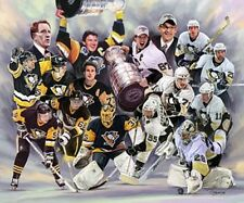 Pittsburgh Penguins :giclee print on canvas poster painting no autograph B-0399