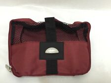 Samsonite Toiletry Bag Cosmetic Case Burgundy Black New