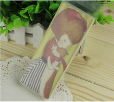 30pcs Lovely Girl & Cat Paper Bookmarks For Gift Present Souvenirs Prize