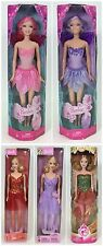 LOT OF 5 BARBIES 2 MERMAID PINK PURPLE 3 BALLET RED PURPLE CHRISTMAS  NRFB
