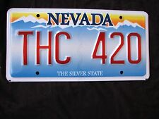 """NEV Vanity License Plate """"THC 420"""" POT MARIJUANA CANNABIS DOPE WEED HEMP STONER"""