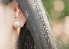 Sun Flower 925 Sterling Silver Earrings Love Heart Gift Her Anniversary MOM-#39