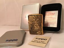 Zippo Lighter Sealed Gorilla Brass G 1996 in Original Tin and Wrap 254BBS B94