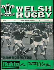WELSH RUGBY MAGAZINE OCTOBER 1976, CWMGORS, LLANDYBIE, AMMANFORD, CIACS