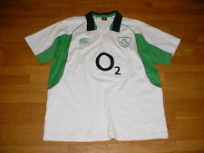 Vtg Canterbury Ireland Irish Rugby IRFU Jersey/Shirt SEWN-ON Mens 2XL/XXL Nice!