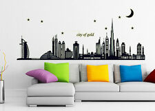 City of Gold Removable Glow in Dark Luminous Wall Paper Sticker Fluorescent
