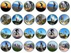 24 cake topper cycling mountain bike bicycle bun fairy cupcake toppers party