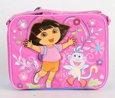 New Dora the Explorer Insulated Lunch Bag Girls Kids Snack Lunch Box Bag Pink