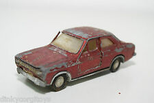 DINKY TOYS 168 FORD ESCORT METALLLIC MAROON GOOD CONDITION SPARES OR REPAIR