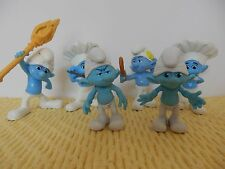 Smurf Smurfs , Set of 6 Figures,Chef (2), Vanity, Clumsy, Grouchy (2)