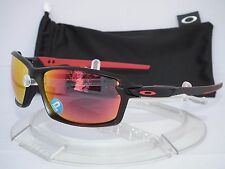 NEW OAKLEY POLARIZED CARBON SHIFT SUNGLASSES OO9302-04 MATTE BLACK / TORCH fiber
